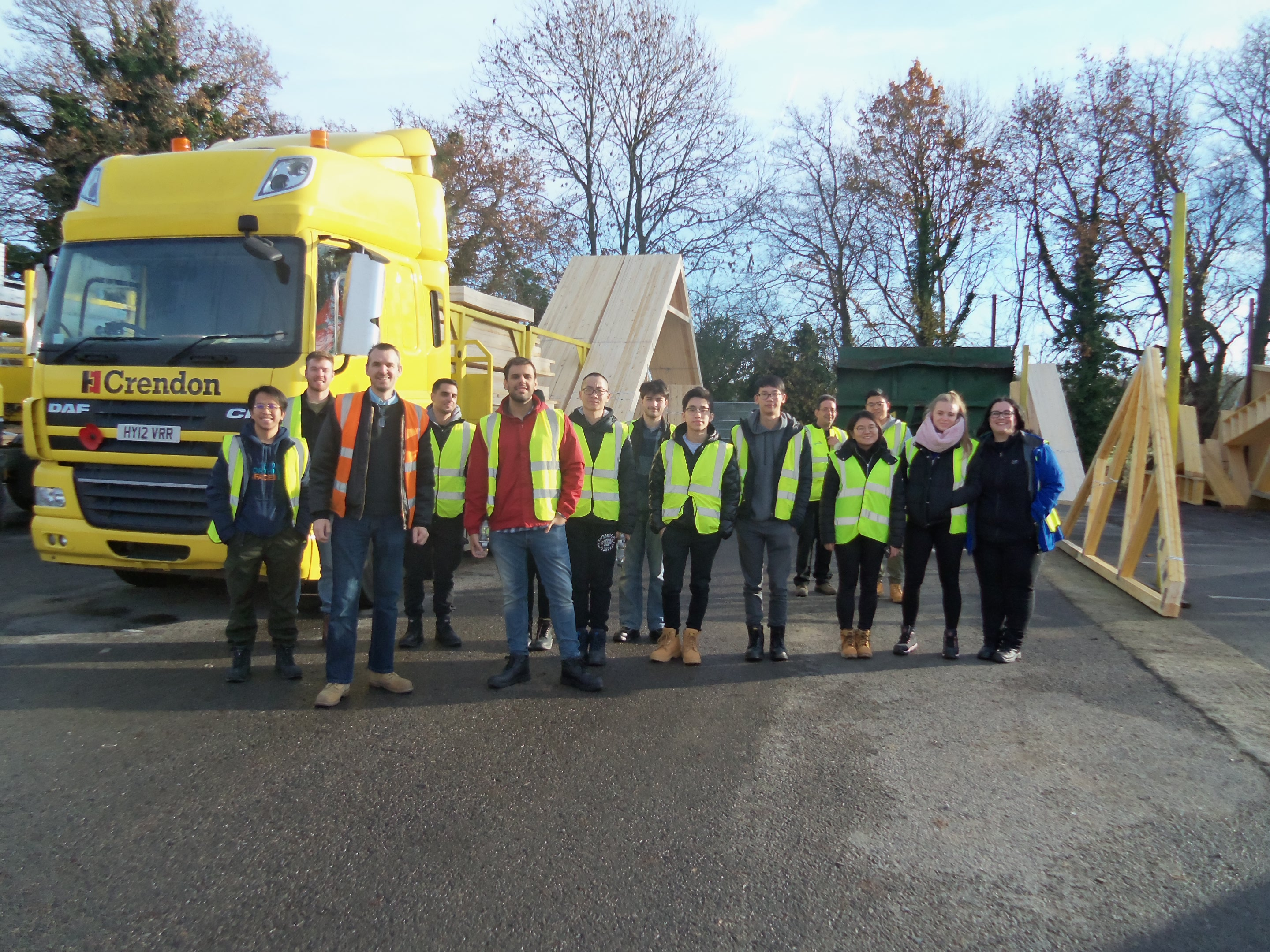 Crendon Timber Engineering, Long Crendon welcomes Reading Uni students