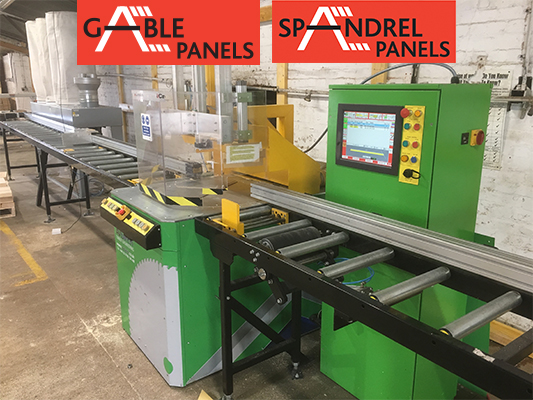 Installation of our new Spandrel Panel and Gable Panel Production line