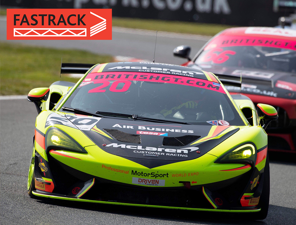 A Winning FASTRACK start to the British GT Pro Am Series for Crendon Supported Michael O'Brien