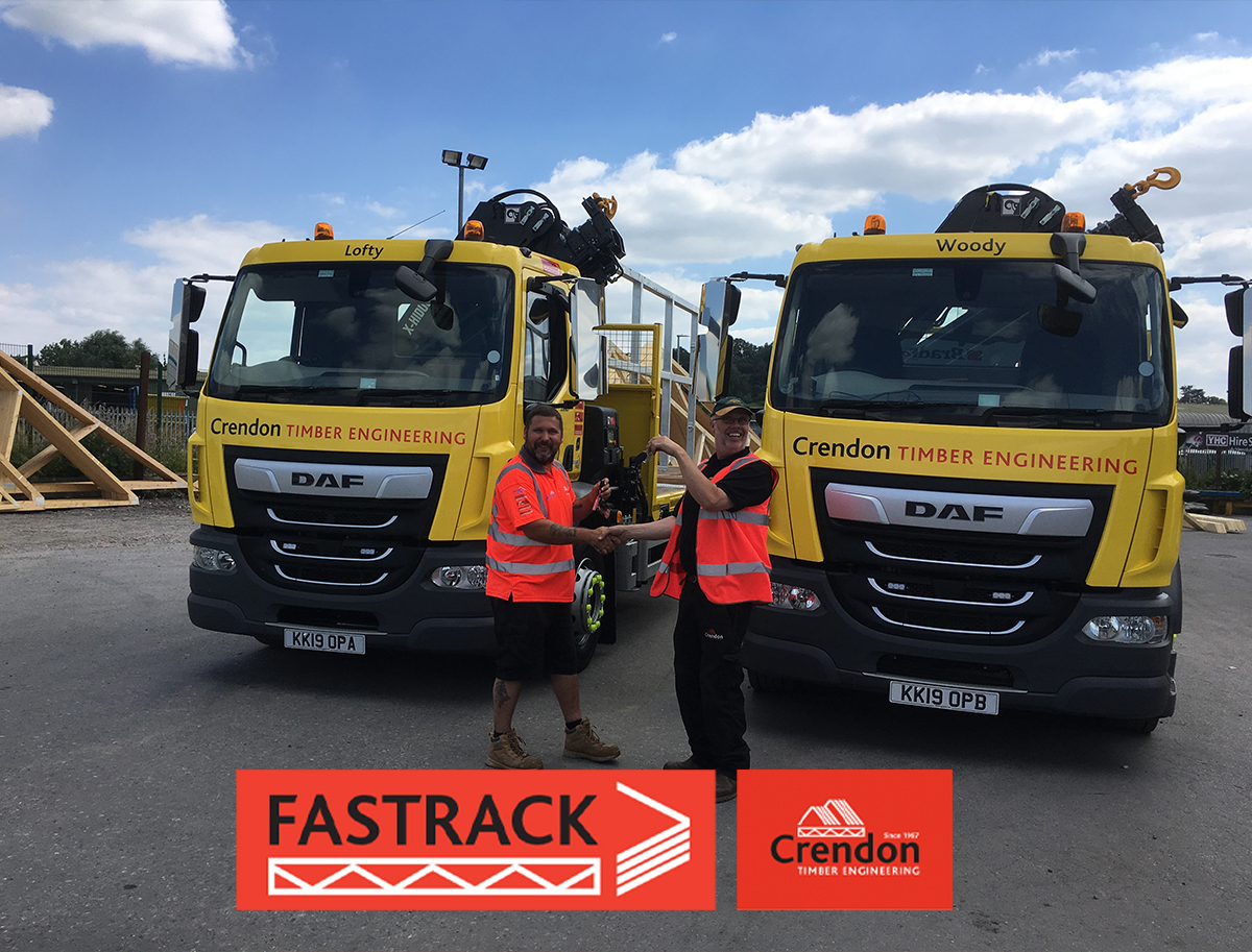 "Our new HGVs ""Lofty"" and ""Woody"" ready at our Glastonbury branch"
