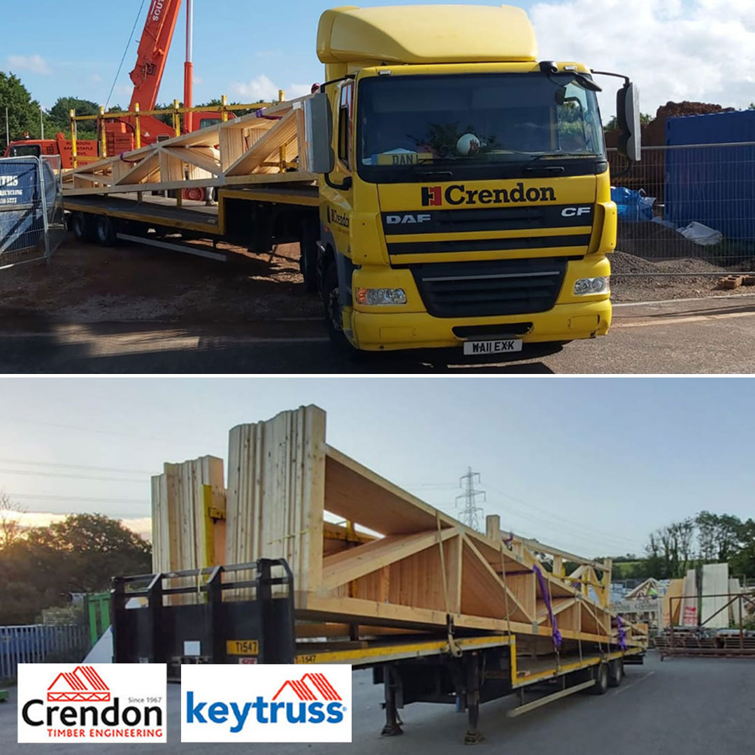 Two full loads of 14m Mono Trusses delivered