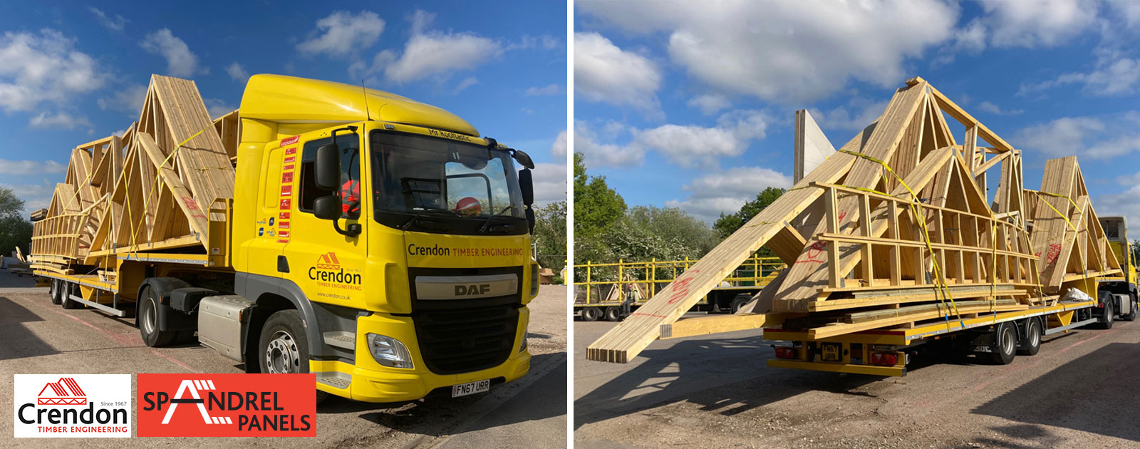 Another Full Load of Roof Trusses Delivered