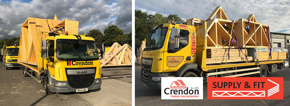 Full load of Flat Top and Box Trusses for a commercial Supply & Fit Project all loaded for delivery 100% On Time In Full